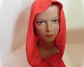 Red Ridinghood Rain Bonnet 60s 70s