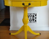RESERVE-JD-Restored Vintage Modern Yellow End Table   (Los Angeles)