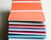 matchbook notebookes from paint chips - set of five