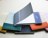 matchbook notebooks from paint chips - set of five