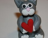Polymer Clay Kitty Cat Figurine