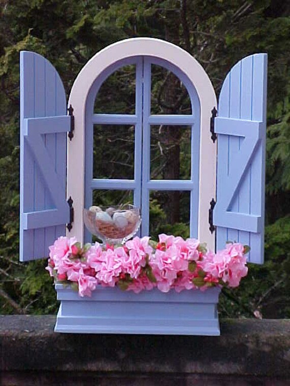 Items Similar To French Country Window And Shutters Wooden