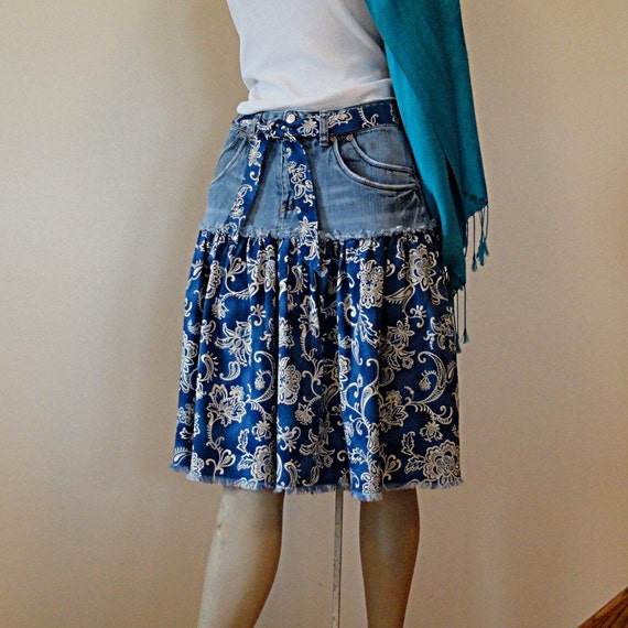 Knee Jean Skirt 17