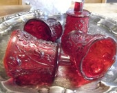 Vintage Red Candle Cups 4