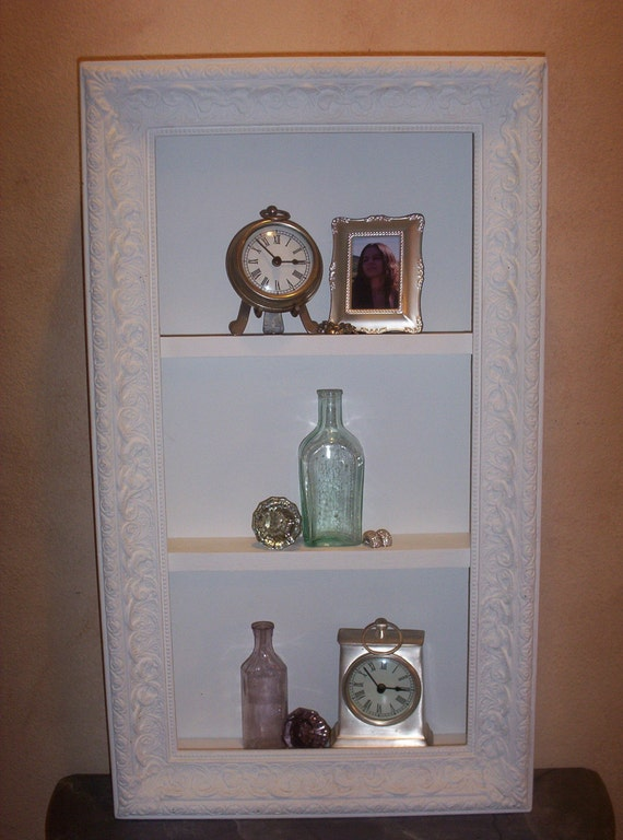 shabby chic shadow box frame