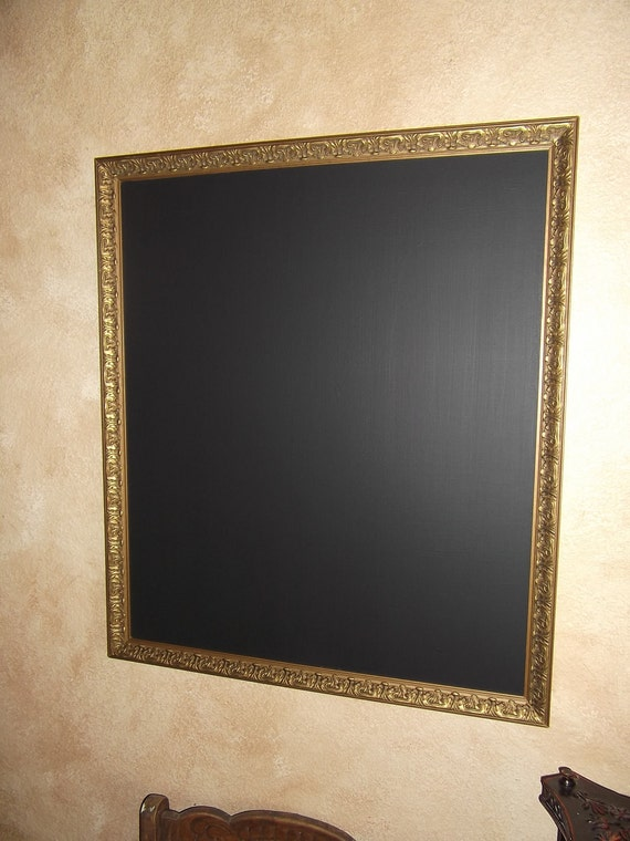 Chalkboard, ornate gold frame