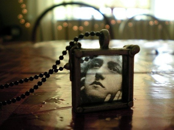 Window Pane Necklace (with removable picture)