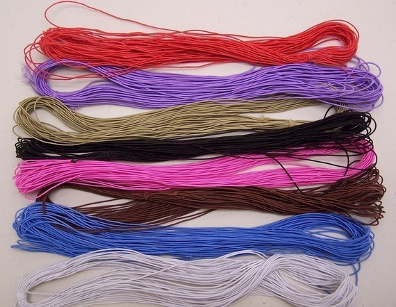 Elastic Cords with Nylon Casing, 8 bunches, 148 Yards