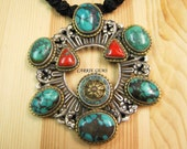 Hand Knotted Turquoise Necklace, Gemstone Jewelry