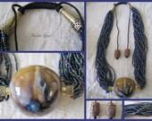 Handmade Blue Planet Necklace