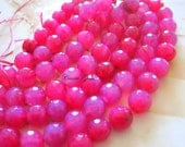 Pink Agate Faceted Round 10mm, 10 pcs