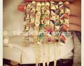 Diagonal Studded Friendship Bracelets