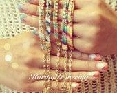 Diagonal Rhinestone Friendship Bracelets with Charm