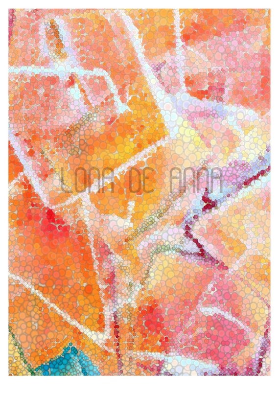 Iced Tangerine Crush Graphic Print A3