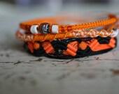 SALE Hot Hippie Rhinestone Accent Friendship Bracelet Set