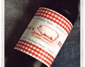 PRINTABLE BBQ Picnic Party Beer Bottle Wrappers - Jennifer Carroll Designs