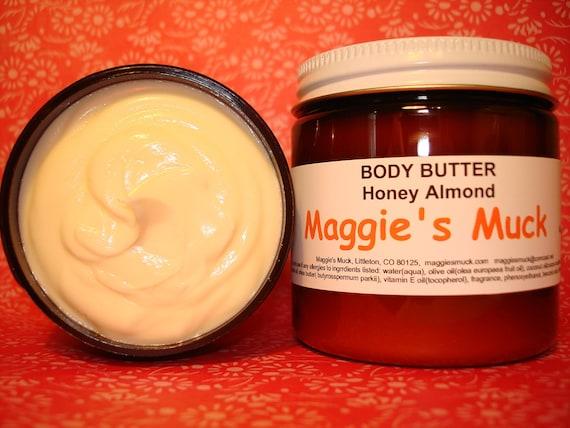 Body Butter Honey Almond With Argan Oil 4oz.