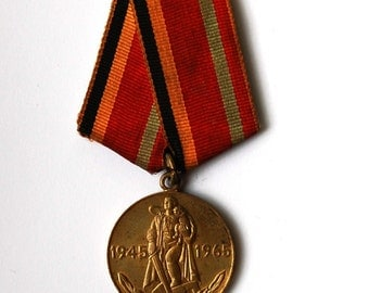 Soviet Military Medal - 20 Years Anniversary of the Victory in the Great Patriotic War - 1945 - 1965 - from Russia / Soviet Union / USSR