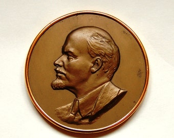 Soviet Era - Lenin Plaque - Communist Propaganda Wall Hanging - from Russia / Soviet Union / USSR