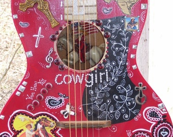 Hand Painted Junk Gypsy Guitar Done Your Way.
