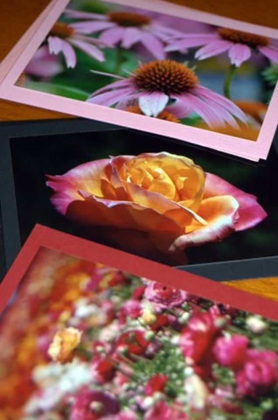 """Send """"Flowers"""" for Mother's Day - Garden Walk - Set of 3 Photo Note Cards"""