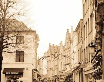 Raining in Bruges