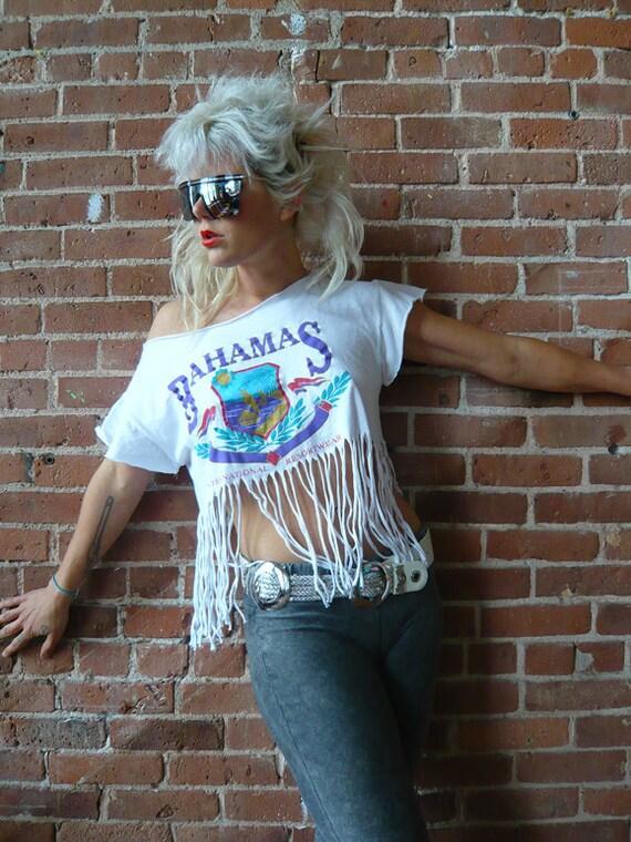 Vintage 80s Bahamas Fringe Shirt