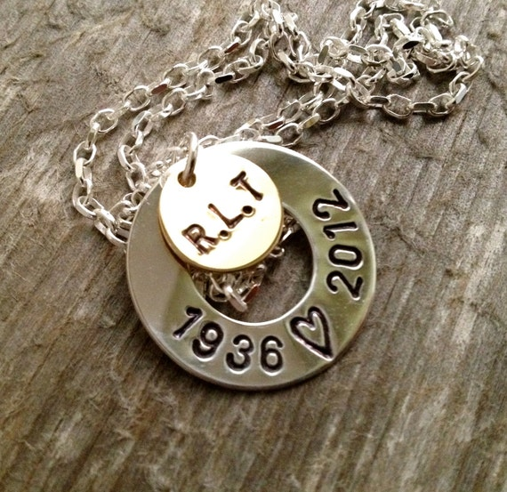 Sympathy Gift- Sympathy Jewelry- Personalized Necklace- Remembrance Necklace- Hand Stamped