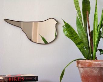 Bird Mirror No. 2 / Handmade Wall Mirror Bird Shape Silhouette Outline Mirror