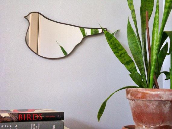 Bird Mirror No. 1 / Handmade Wall Mirror Gift Under 35 Dollars Shape Art Modern Decor