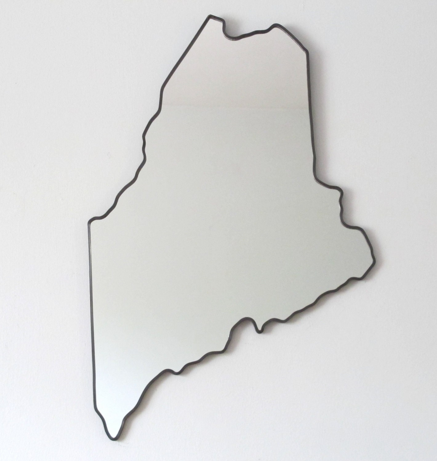 Maine Mirror Wall Mirror State Outline Silhouette By