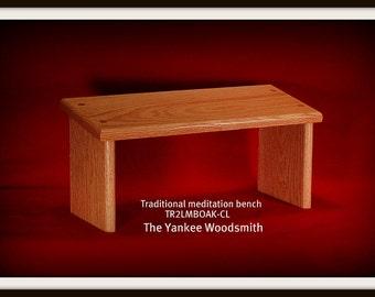 Yoga meditation bench - stool  (OAK)  Seiza bench -  Traditional Seiza Style Meditation bench