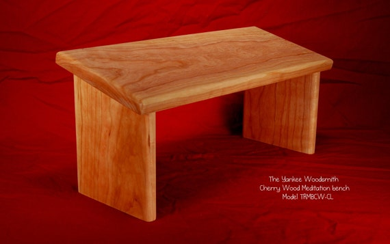 Meditaion bench - seiza bench. Solid Cherry Wood (TRMBCW-CL)
