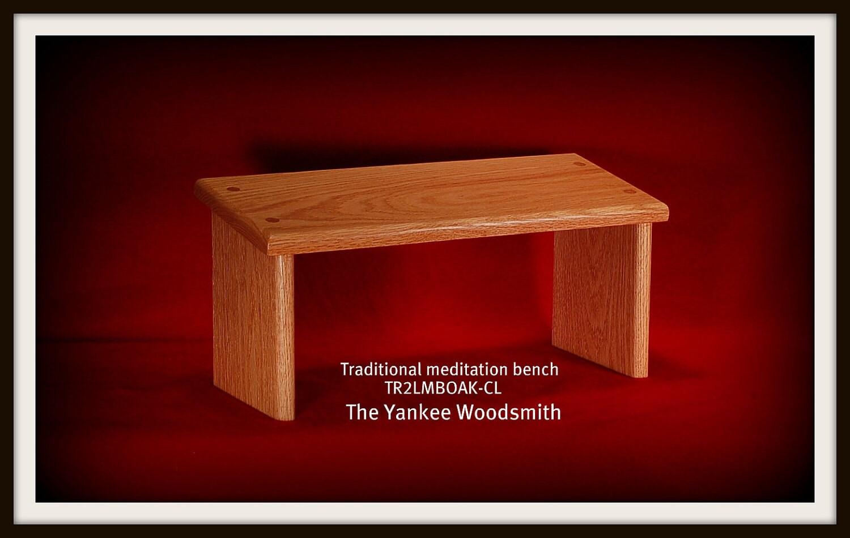 Yoga Meditation Bench Stool Oak Seiza Bench