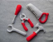 Tool Set Toys, Includes a Wrench, Saw, Pliers, Screwdriver & Hammer