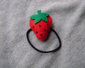 Strawberry Ponytail Holder