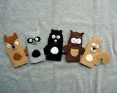 Finger Puppets, Forest Animals - FREE SHIPPING (US Domestic)