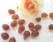 Vintage Amber Prisms Lot of 5