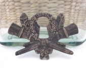 Vintage French Escutcheon Bronze with Ornate Design
