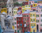 Vernazza, 30x24, Original Oil Painting