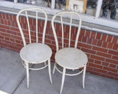 Industrial Steel Bentwood Chairs