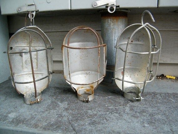 Industrial Wire  Task Light Cages Instant Collection Of 3