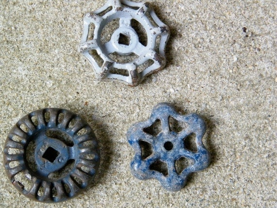 Faucet Knobs / Handles / Drawer Pulls / Blue / Gray