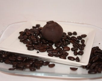 White Chocolate Cafe Latte Truffle dipped in Dark Chocolate - 5 Truffles - Approx. 1/3lb