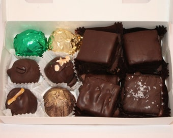 Assorted Chocolate Confections - Truffles, Caramels, Scotchmallows, and Marshmallow