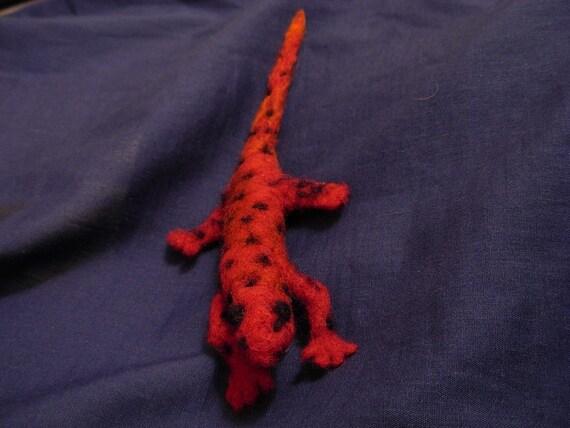 Needle Felted Eastern Mud Salamander