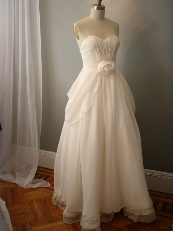 Items Similar To Whimsical Chiffon Wedding Dress