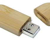 Bamboo 2GB Flash Drive - Laser Engraved