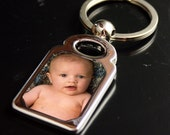 Custom Silver  Photo Keychain - Customize One Today