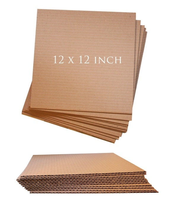 12x12in Recycled Corrugated Cardboard Sheet For Shipping Or